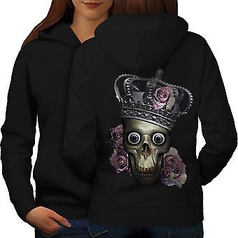 Queen Rose Death Women BlackHoodie Back | Wellcoda