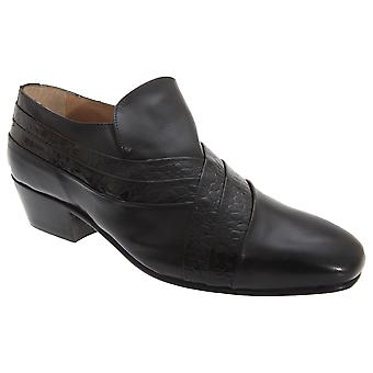 Montecatini Mens Folded Vamp Tab Full Leather Reptile Shoes