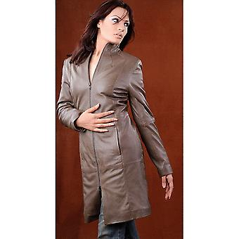 Ladies Glamorous Leather 3/4 Coat