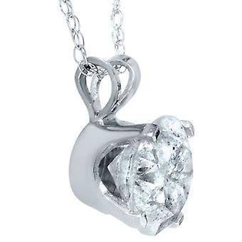 2ct Solitaire diamant hanger 14 KT witgoud