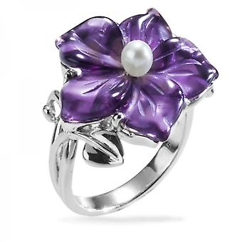 Ladies Shipton And Co Silver And Amethyst Ring TSN052AMP