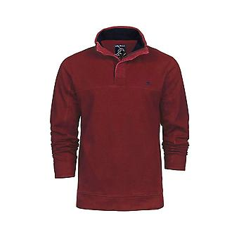 Big and Tall Pigment Dyed 1/4 Zip Sweat - Claret