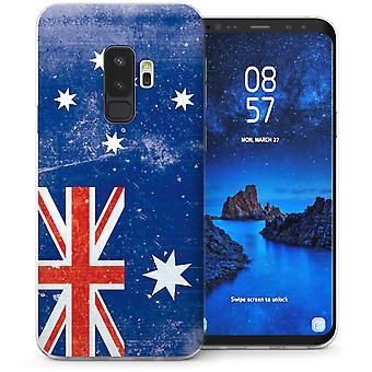 Samsung Galaxy S9 Plus Retro Australië vlag TPU Gel geval-Blue