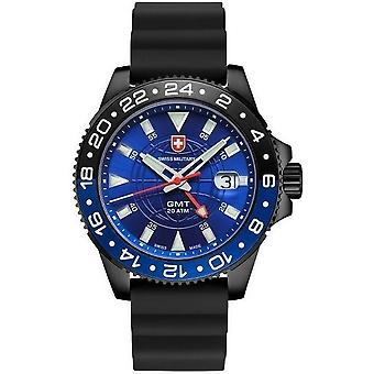 Swiss military mens watch GMT Nero scuba 27771