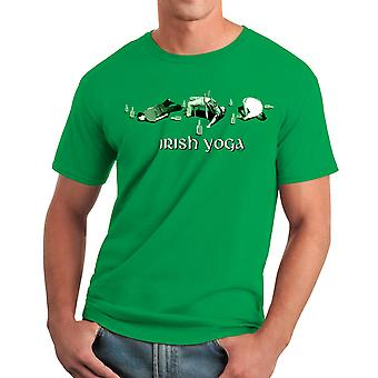 Humor Irish Yoga Men's Kelly Green T-shirt