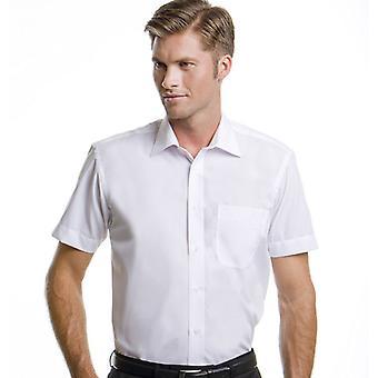 Kustom Kit Mens Business Colours Short Sleeved Tailored Fit Work Shirt