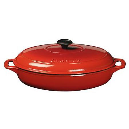 Chasseur Oval Serving Casserole Chilli Red 31cm 11839314