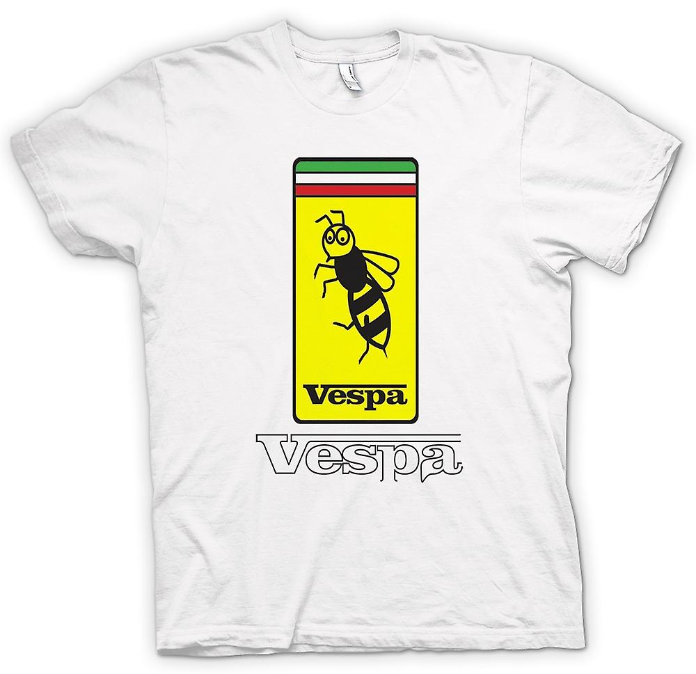 Womens T-shirt - Vespa Scooter Badge - Bee - Mod