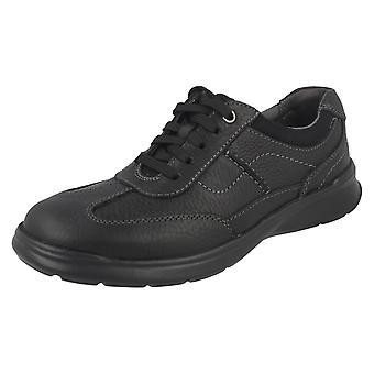 Clarks Herren Freizeitschuhe Cotrell Stil - ölig aus schwarzem Leder - UK Size 12G - EU Größe 47 - US Size 13M