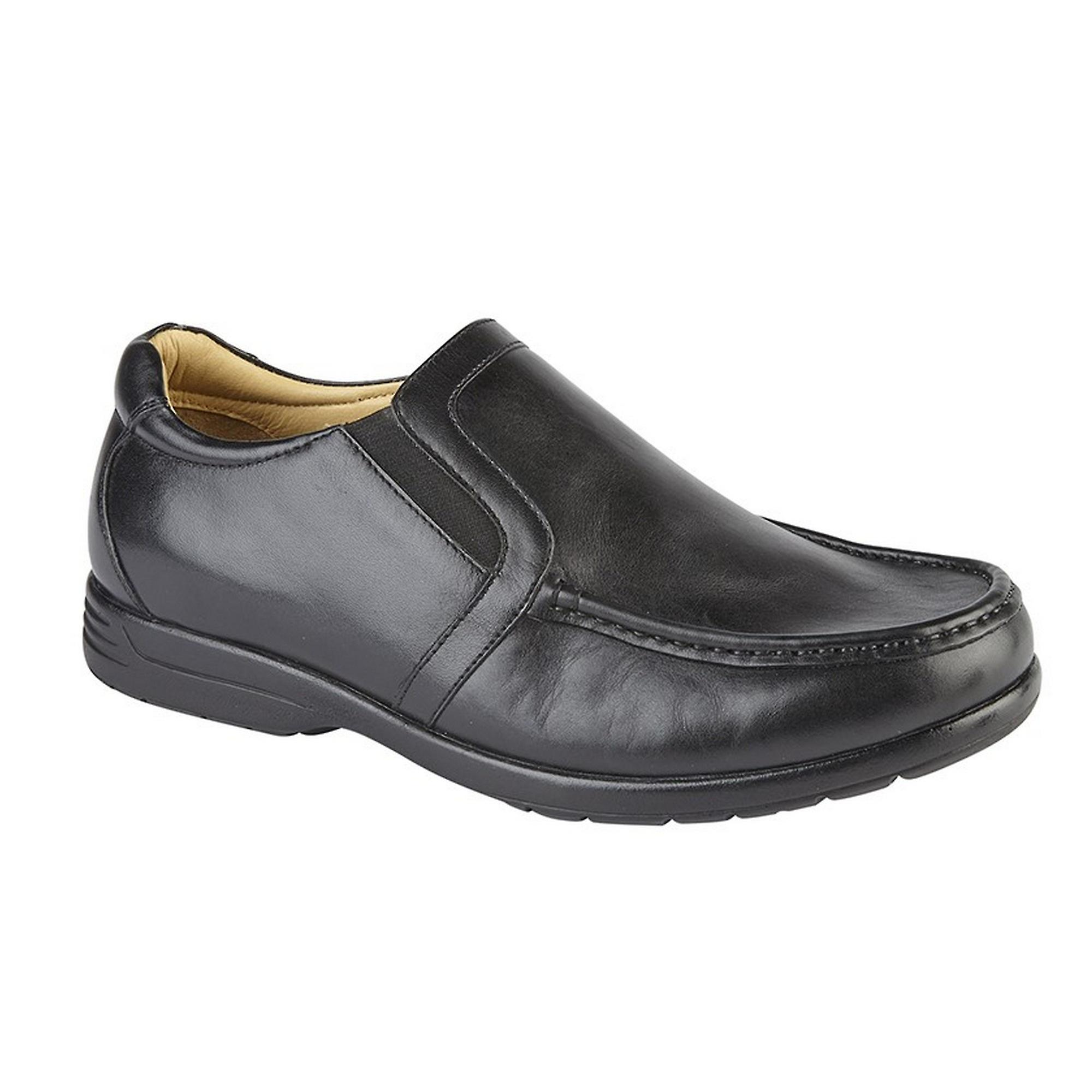 Roamers Mens Leather XXX Extra Wide Twin Gusset Casual chaussures