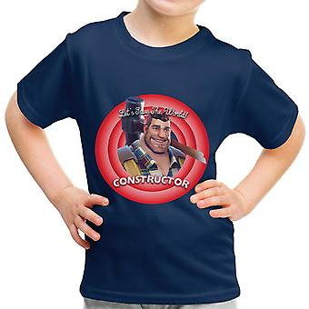 Fortnite Constructor Lets Save The World Kid's T-Shirt