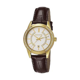 Pierre Cardin ladies watch TROCA LADY Watch Gold Leather PC106582F09