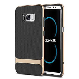Original ROCK hybrid silicone case bag black / gold for Samsung Galaxy S8 plus G955 G955F