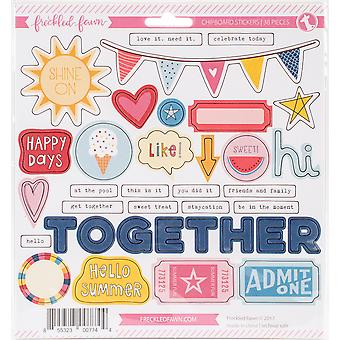 Freckled Fawn Chipboard Stickers-Admit One