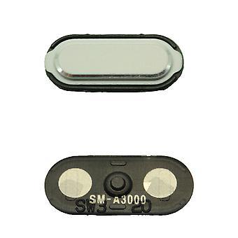 White Samsung Galaxy A3 Home Button - GH98-34721A