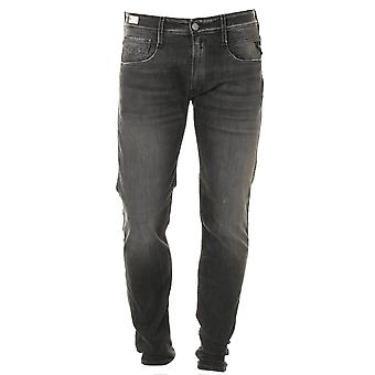 Replay Anbass Super Stretch Black Jeans