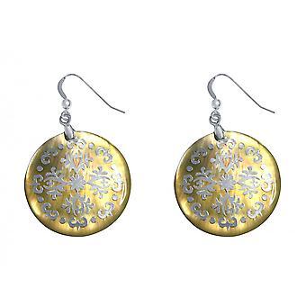 Gemshine Damen Ohrringe 925 Silber Perlmutt 4 cm