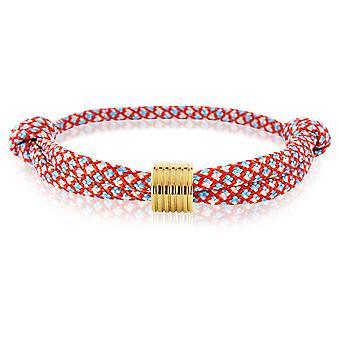 Skipper bracelet surfeur bande marque nœuds bracelet rouge/bleu avec d'or pendentif 7364