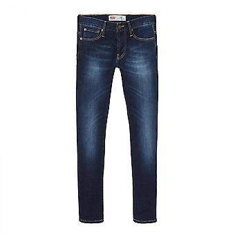 Levis Juniors 502 Extreme Taper Jeans (Navy)