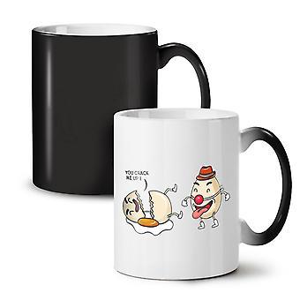 Funny Laughing Clown NEW Black Colour Changing Tea Coffee Ceramic Mug 11 oz | Wellcoda