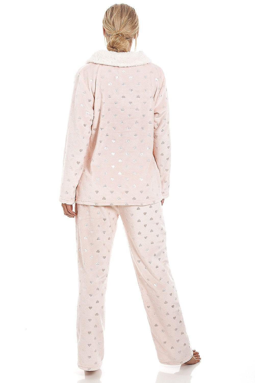 2793ab327d06 Camille Luxurious Pink Supersoft Fleece High Neck Silver Heart ...