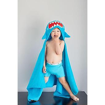 Personnalisé serviette à capuchon Sherman le requin