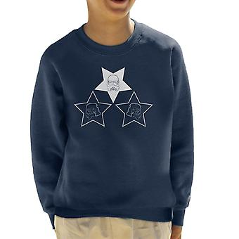 Original Stormtrooper Helmet Line Art Stars Kid's Sweatshirt