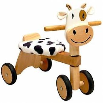 Cow wooden balance bike