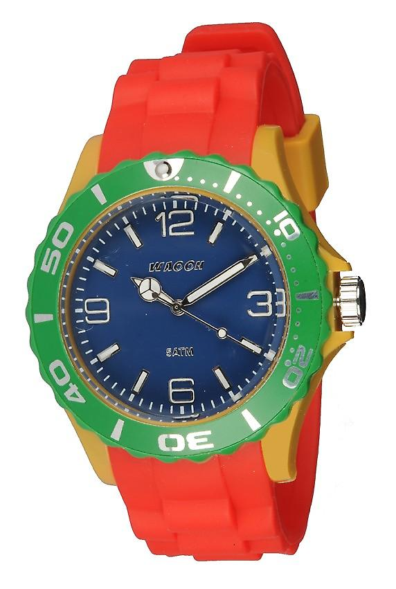 Waooh - Watch MC42 Blue Multicolor Green & Yellow Mustard
