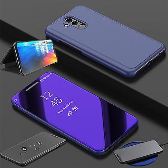Für Huawei P30 Pro Clear View Spiegel Mirror Smartcover Lila Schutzhülle Cover Etui Tasche Hülle Neu Case Wake UP Funktion