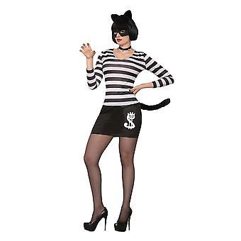 Traje femenino del gato ladrón