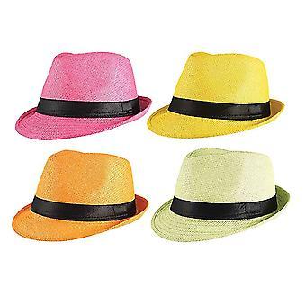 Gangster Straw Hat (Asst'd Cols)