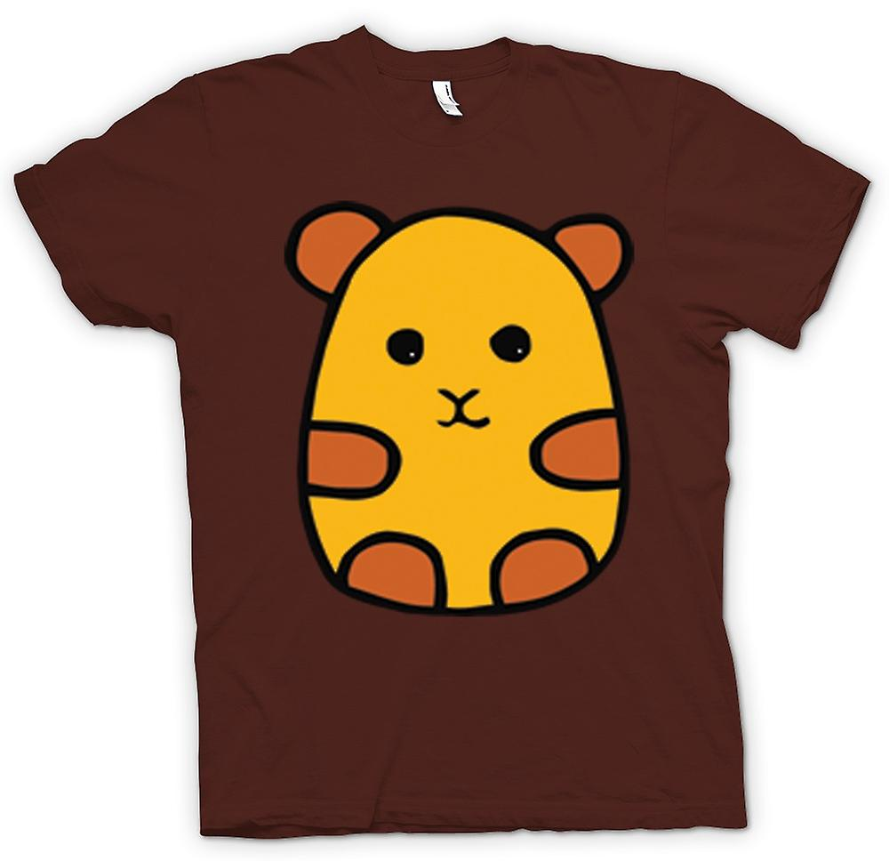 Mens T-shirt - Cartoon Hamster Design