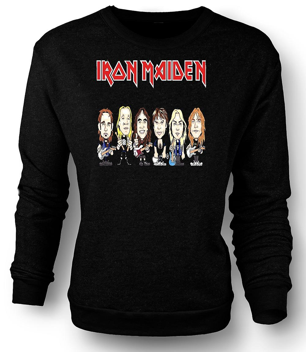 Mens Sweatshirt Iron Maiden - tecknad Band