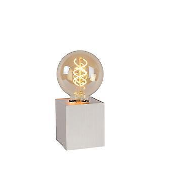Lucide Pablo Modern Square Metal Satin Chrome Table Lamp