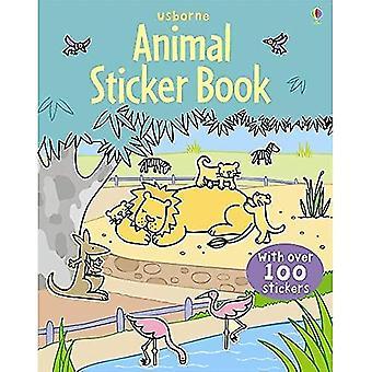 Zwierzęta naklejki książki (Usborne naklejki książek)