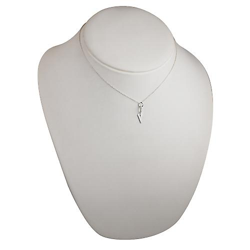 Silver 23x6mm solid Builders Trowel Pendant with a rolo Chain 16 inches Only Suitable for Children