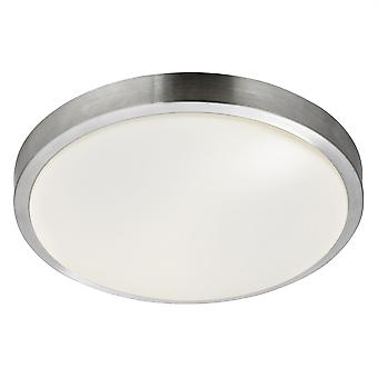 Aluminium rund LED badrum taklampa - Searchlight 6245-33-LED