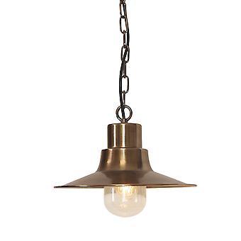 Sheldon messing udendørs loft kæde lanterne - Elstead belysning Sheldon Ch BR