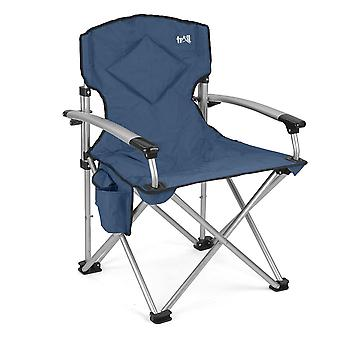 Folding Camping Chair Padded Outdoor Festival Armchair With Drink Holder And Bag