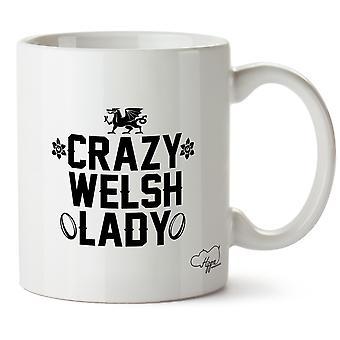 Hippowarehouse Crazy Welsh Lady Printed Mug Cup Ceramic 10oz