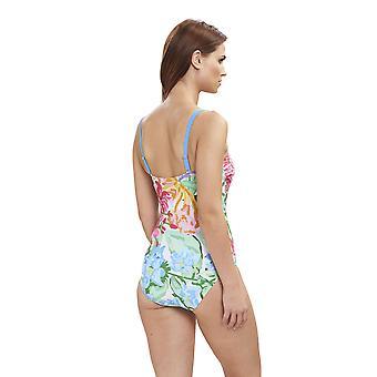 Feraud 3195074-16363 Women's Beach Flowers Multicolour Floral Costume One Piece Swimsuit