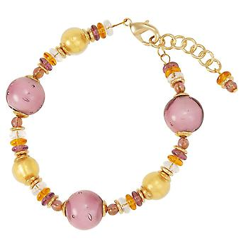 Eternal Collection Carousel Lilac Murano Glass Bracelet