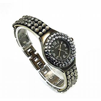 Henley Glamour à charbon Multi facettes Crystal Watch