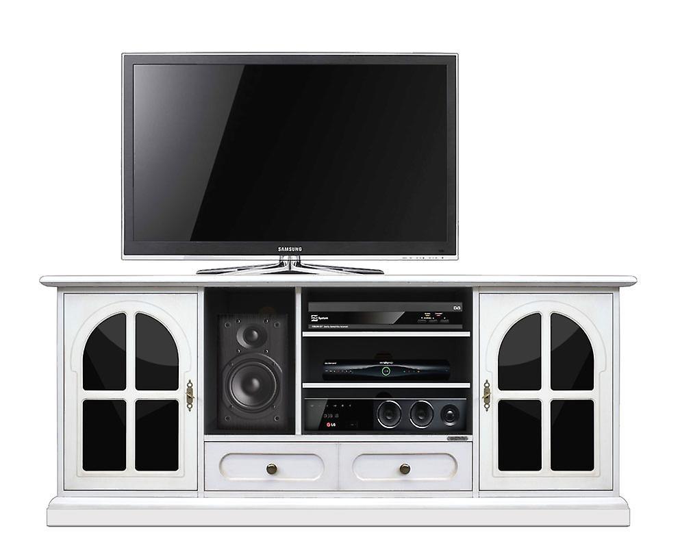 Mobile TV 160 cm Plex & blanc
