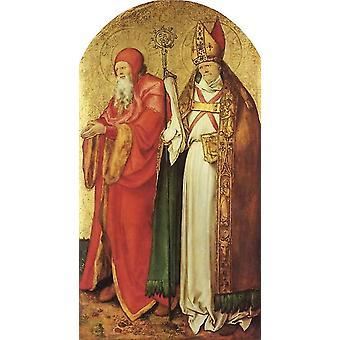 Sts.Simeon and Lazarus,Albrecht Durer,60x33cm