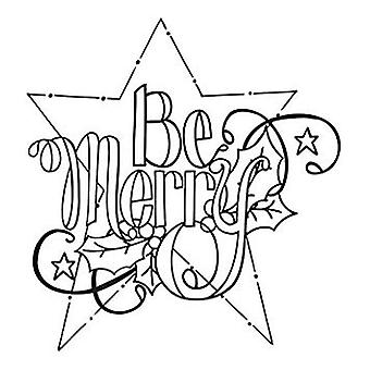 Spellbinders Be Merry Cling Stamp Set (SBS-059)