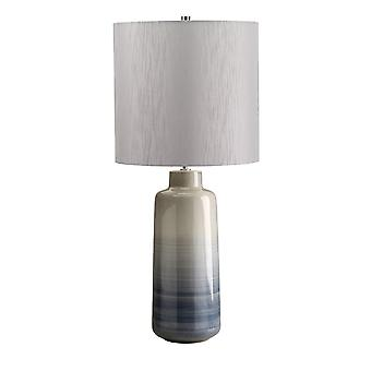 Elstead-1 lys stor bordlampe-blå, grå finish-BACARI/TL LRG