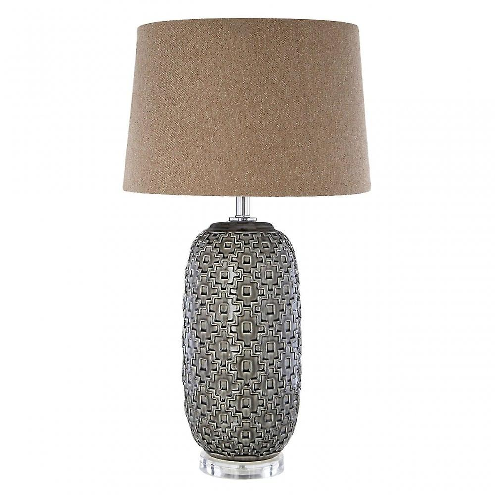 Premier Home Udele Table Lamp, Ceramic, Linen