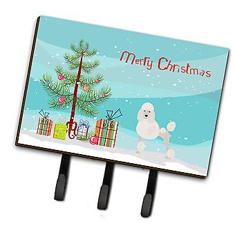 Miniatuur poedel kerstboom leiband of sleutelhaak